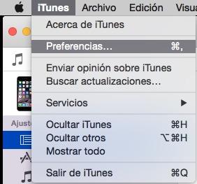 iTunes>Preferencias