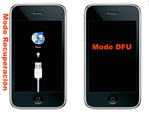 Modo DFU y Modo Recuperaación