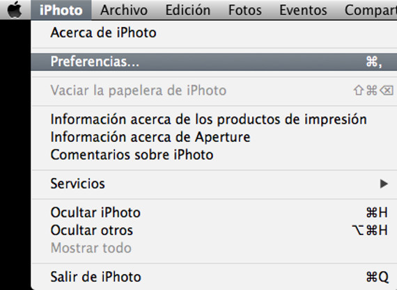 iphoto preferencias