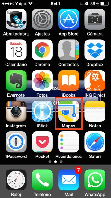 Pulsa en la app Mapas
