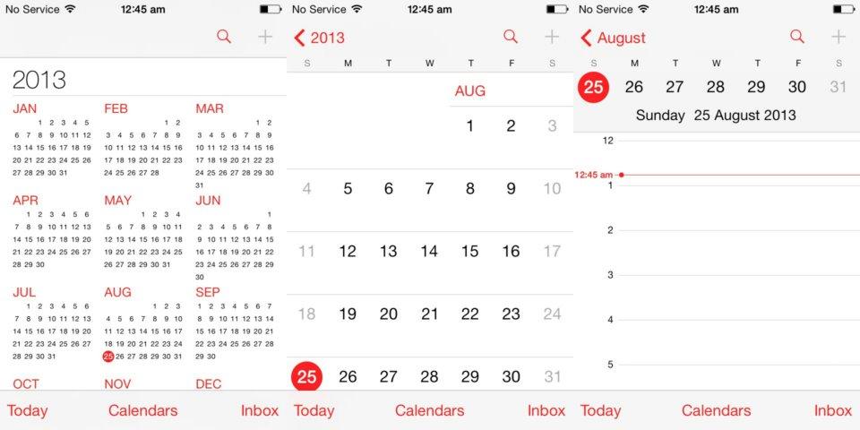 Calendario De Semanas.Vista De La Semana En El Calendario Del Iphone O Ipadescuelaiphone
