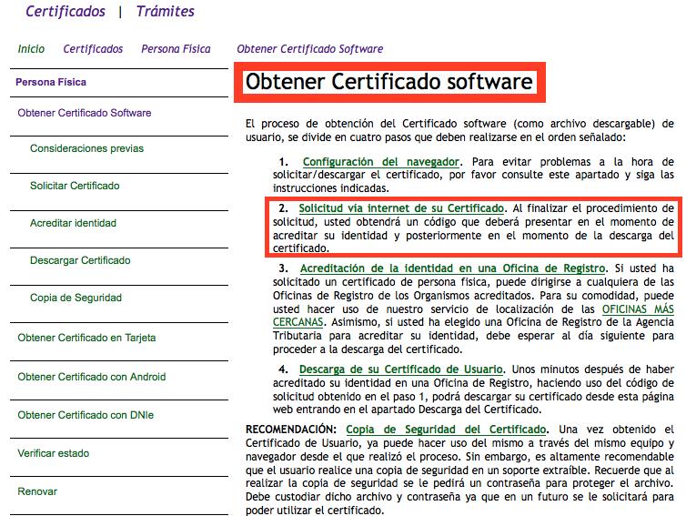 Como instalar un certificado digital en mac con for Oficinas certificado digital