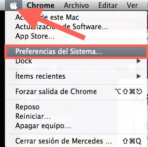 Preferencias del sistema Mac