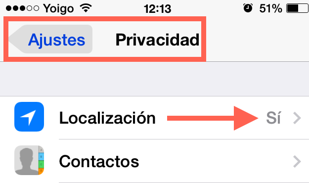 Localización iPhone