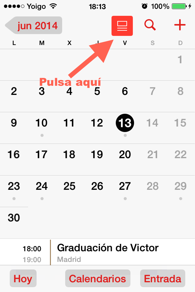 icono lista calendario iphone