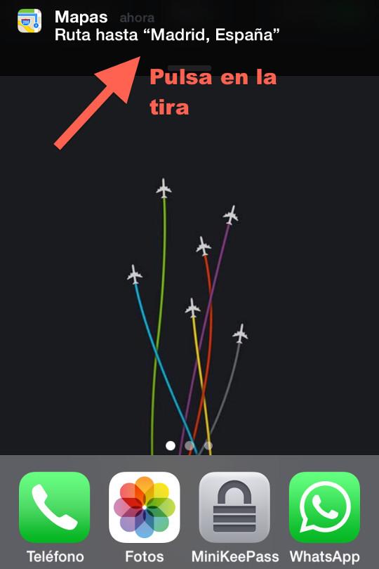 ruta en iphone