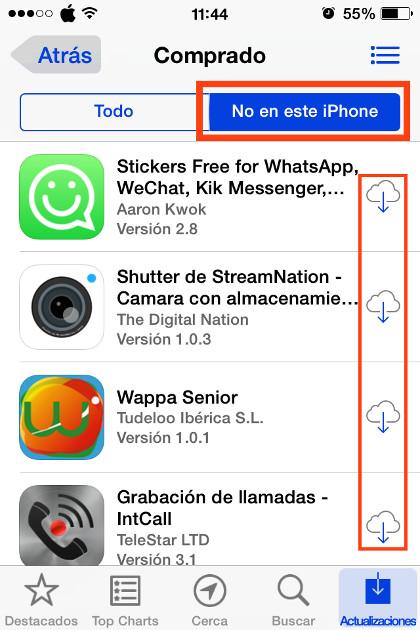 Pulsa en No en este iPhone