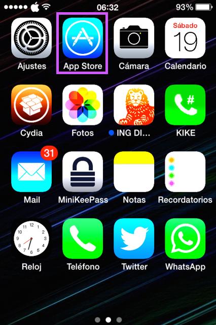 Abre la App Store