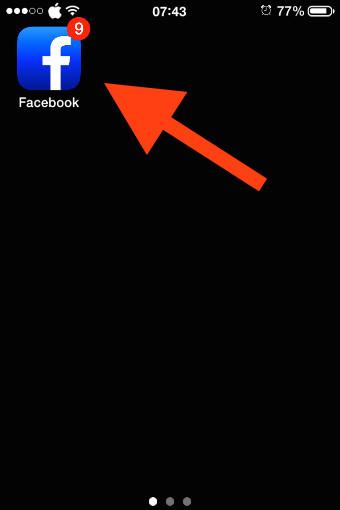 Abre la aplicación Facebook