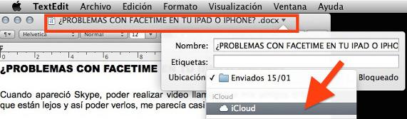 Selecciona iCloud en el desplegable