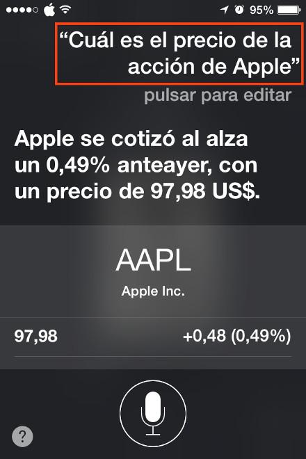 Precio de las aciones de Apple