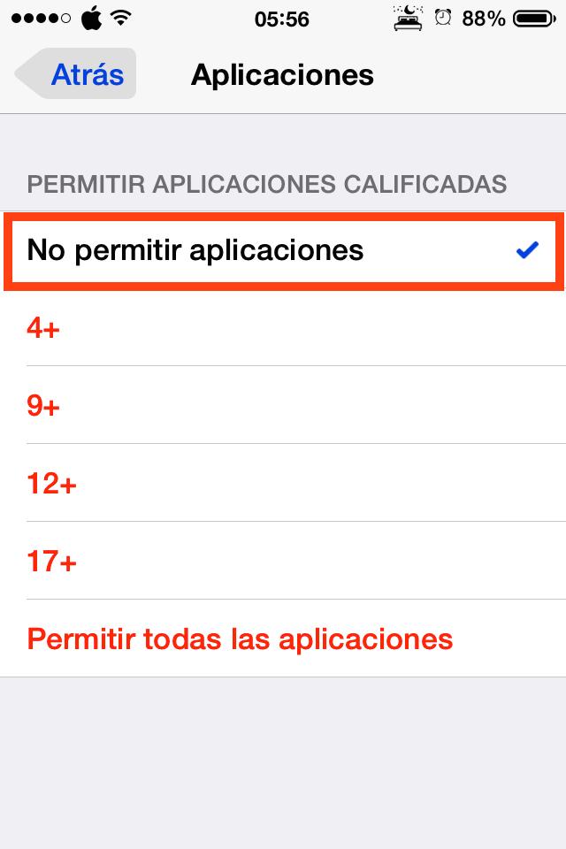 Dejar sólo las aplicaciones nativas del iPhone o iPad