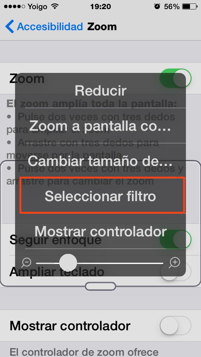 Seleccionar filtro