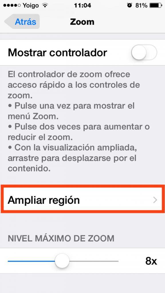 Ampliar región