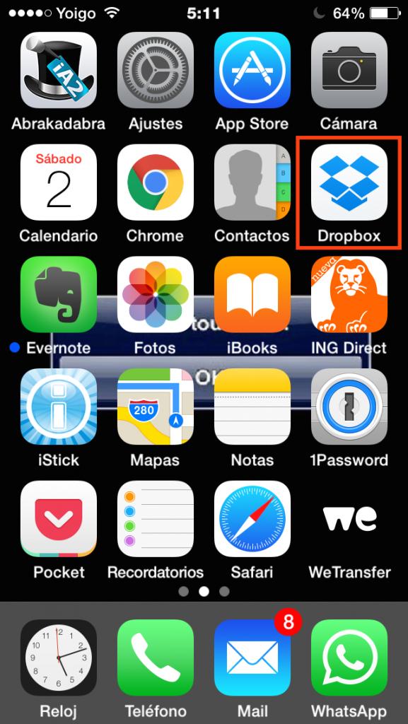 Abre Dropbox