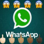 Ya puedes poner el icono del dedo de en medio en Whatsapp